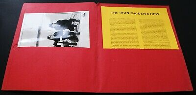 Iron Maiden Vintage Press Pack US Capitol Records Live After Death October 1985 • 65£
