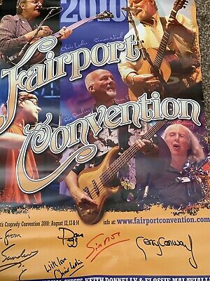 Signed Fairport Convention Poster 2010 • 0.99£