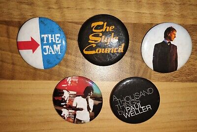 Paul Weller Jam The Style Council Rare Promo Badges A Thousand Things Not Book . • 24.95£