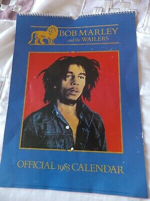Bob Marley And The Wailers Official 1985 Calendar. Not Written On. • 8.99£