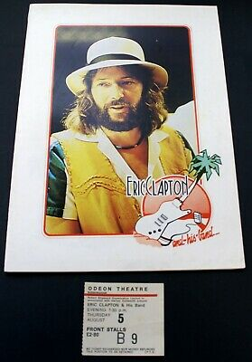 Eric Clapton Program Inc. Poster + Ticket No Reason To Cry Tour Birmingham 1976 • 50£