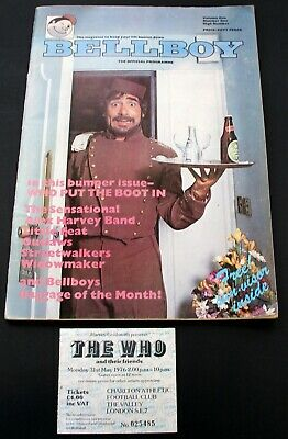 The Who Program + Ticket By Numbers Tour London 1976 • 50£