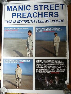 Manic Street Preachers Original Promo Poster This Is My Truth Tell Me Yours  • 2.99£
