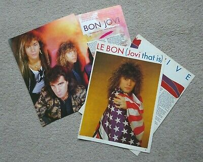 BON JOVI - CUTTINGS/CLIPPINGS/POSTERS From 1980s Music Mags No1 / Smash Hits • 3.99£