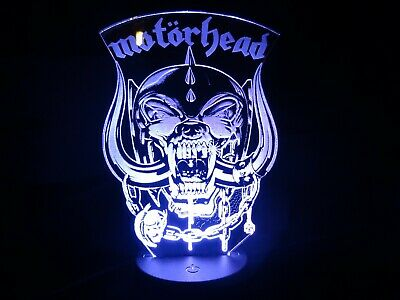 Motorhead Acrylic Engraved LED Lamp • 20£