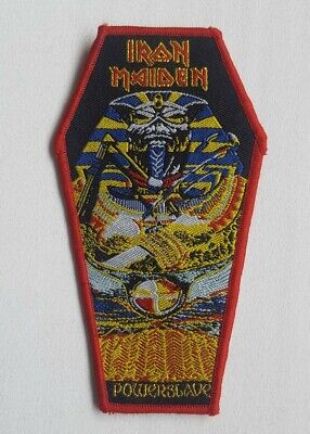 Iron Maiden PATCH Powerslave Coffin Shaped Glitter Limited Edition Rare NEW • 5£