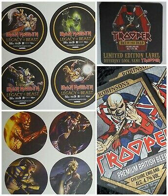 Iron Maiden Trooper Beer Mats + Legacy Beast Set Of 4 + Day Dead. NEW SET OF 14! • 1£