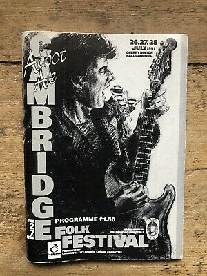 Cambridge Folk Festival 1991 Programme Booklet • 2.30£
