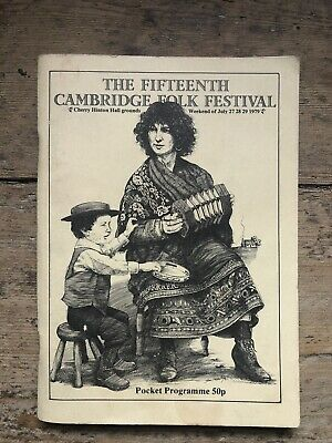 Vintage Cambridge Folk Festival 1979 Programme Booklet • 4.99£