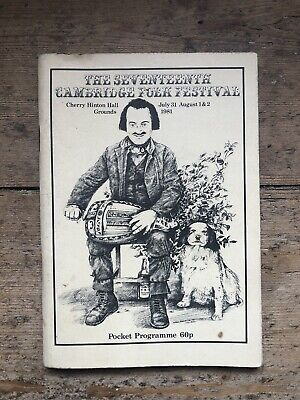 Vintage Cambridge Folk Festival 1981 Programme Booklet • 4.99£
