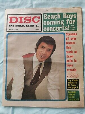 Disc And Music Echo Newspaper March 15th 1969 Jimi Hendrix Poster • 18£