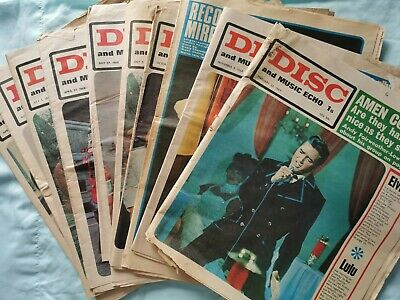 Collection Of 1968 And 1969 Disc And Music Echo Newspapers  • 20£