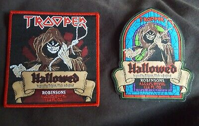 Iron Maiden Patch Trooper Beer Hallowed SET. Bundle Pair HQ Two NEW X2 Patches • 1£