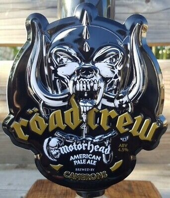 Motorhead Official Road Crew Beer METAL 3D Pump Clip Badge Embossed Enamel. New  • 5£