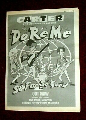 Carter The Unstopable Sex Machine Do Re Me  Poster Size Trade Paper Advert 1992 • 2.99£