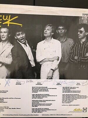 """The Jam Ex The Jam Time Uk Fully Autographed 12"""" The Cabaret • 45£"""