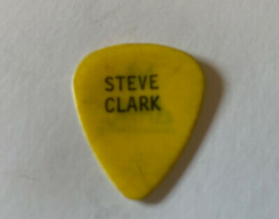 Def Leppard Vintage STEVE CLARK Black On Yellow Tour Issued Used Guitar Pick • 196.77£