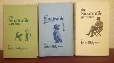 THE SINATRAFILE John Ridgway. Parts 1 2 3 Numbered Limited Signed 1st Edition HB • 89.99£