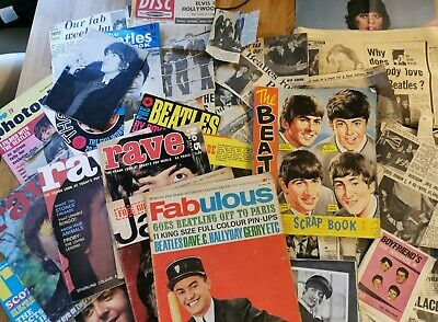 Large Collection Of Beatles Newspaper Cuttings Magazines Scrapbook 1960s • 40£