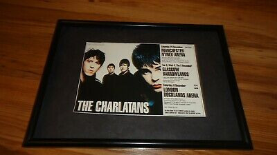 THE CHARLATANS 1997 Tour-framed Original Advert • 11.99£