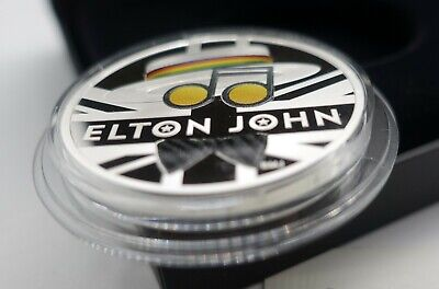 2020 1oz Elton John UK  Silver Proof Coin Limited Edition 7500 In Hand COA 3366 • 166.33£