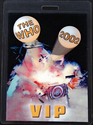 The Who Pass VIP The Who Tour 2002 #1 • 10£