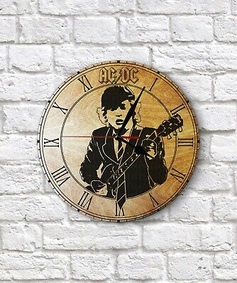 ACDC Angus Young Engraved On Wall Clock  • 13.50£