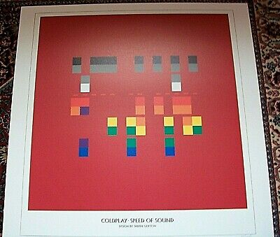 Coldplay Speed Of Sound Lithograph Art Poster Out Of Print Edition Of 250 Rare • 34.95£