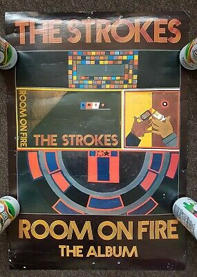 The Strokes Room On Fire Original Promo Poster • 4.99£
