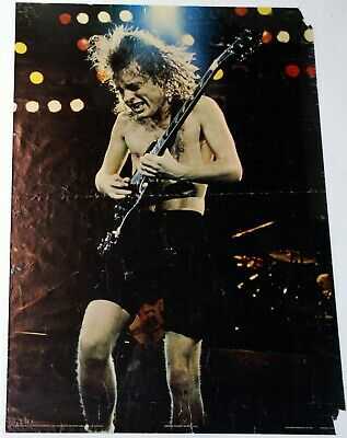 AC DC Angus Young Poster Anabas Printed In England 1981 • 40£