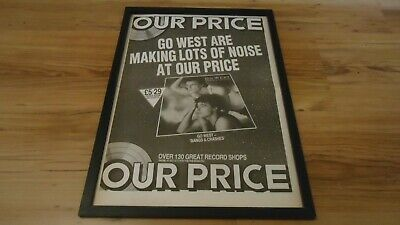 GO WEST Bangs & Crashes-framed Original Poster Sized Advert • 35£