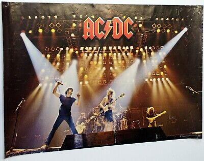 AC DC Poster Pace Minerva Printed In Scotland 1981 • 40£