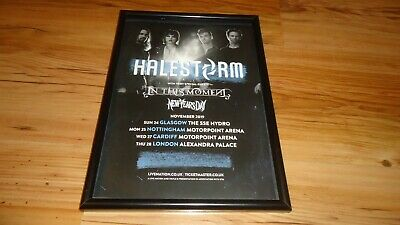HALESTORM 2019 Tour-framed Original Advert • 11.99£