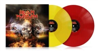 IRON MAIDEN - MANY FACES OF IRON MAIDEN - 2 X YELLOW & RED VINYL LP NEW PRESALE • 18.95£