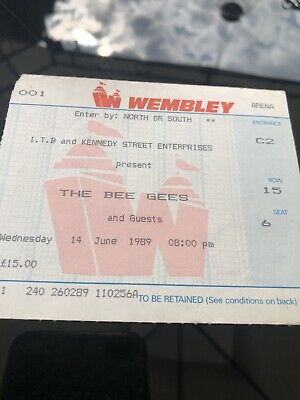 The Bee Gees Tickets Wembley 1989 • 18£