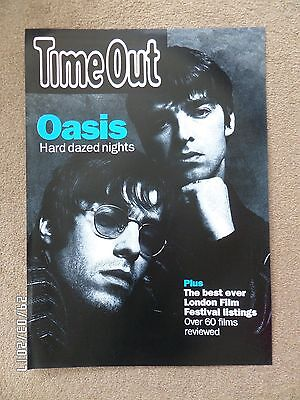 Oasis Time Out Original 90's Promo Poster. • 13.99£