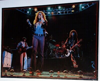 Led Zeppelin Poster Big O Printed In England 1976 • 65£