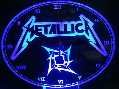 Metallica Acrylic Engraved LED Clock Night Light • 20£