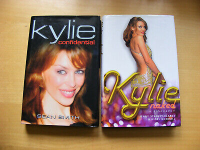 2 Kylie Minogue Books    Naked  &  Confidential  - Hardback 1st Editions • 9.99£