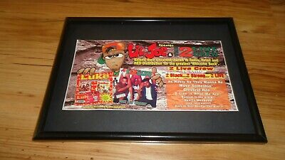 2 LIVE CREW-1996 Framed Original Advert • 11.99£