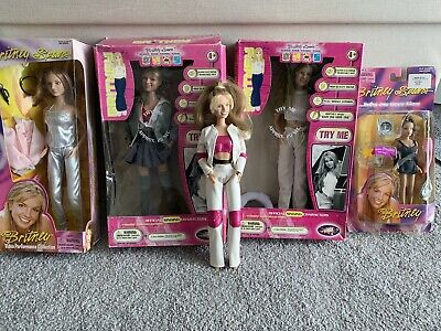Britney Spears Doll Collecttion Rare Sometimes Singing Doll ! 5 Dolls !! • 80£