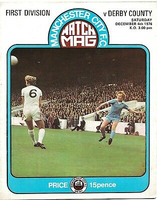 MANCHESTER CITY V DERBY 1976 INCLUDING SEX PISTOLS ANARCHY IN THE UK TOUR ADVERT • 19.99£