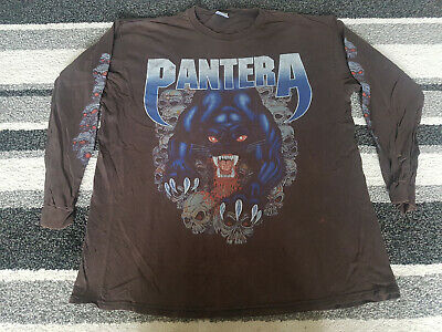 Pantera Long Sleeve T Shirt, XL, 90's Vintage, Faded And Some Signs Of Wear • 26£
