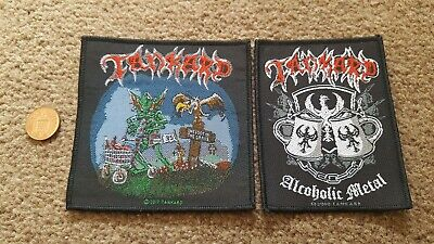 TANKARD 'Alcoholic Metal' & 'One Foot In The Grave' Cloth Woven Patches... • 1.27£
