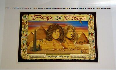 Led Zeppelin Page And Plant Poster Printers Proof US 1995 • 140£