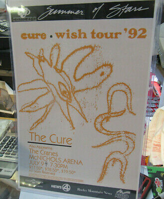 The Cure Poster Late 2000's Vintage 11 X 17  In Top Loader Concert Board • 14.25£