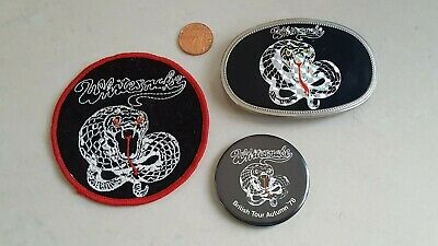 Vintage Whitesnake Woven Patch, Belt Buckle & Tour Badge...1978...Rare Items... • 2.22£