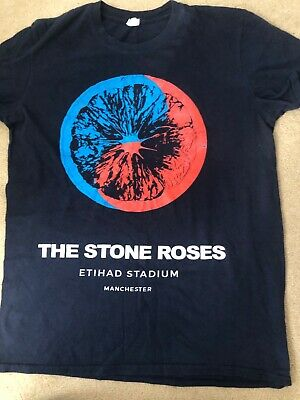 The Stone Roses Official Tour T-Shirt. Eithad Stadium Manchester  June 2016 • 15£