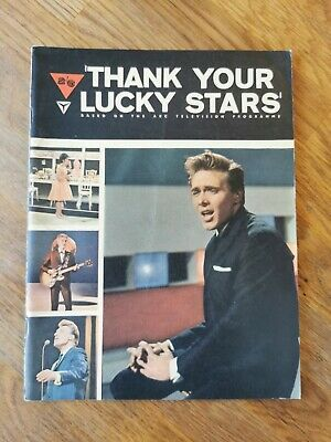 Thanks Your Lucky Stars Booklet Billy Fury 1963 • 10£
