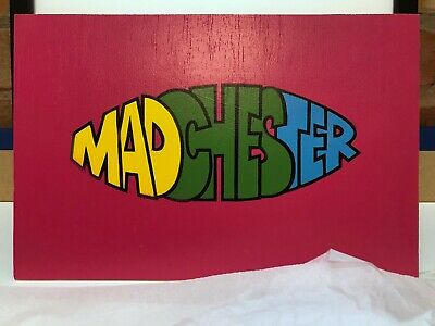Madchester Manchester Indie Spraypainted Stencil Art Hand Painted • 22£
